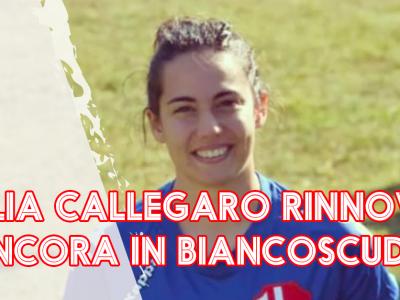 Giulia Callegaro rinnova il sodalizio, è ancora in biancoscudo