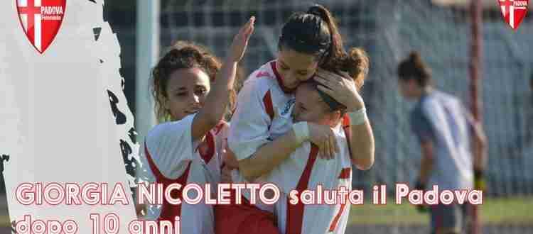 Giorgia Nicoletto saluta dopo 10 anni