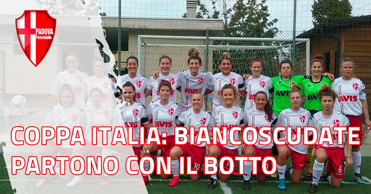 Coppa Italia: Biancoscudate partono con il botto, 3 a 0 al Portogruaro