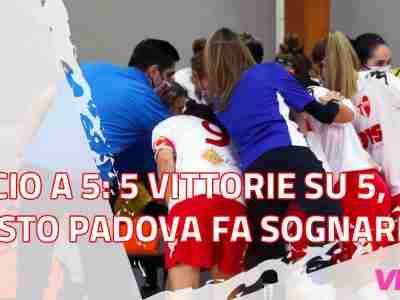 Calcio a 5: Quinta vittoria su cinque, questo Padova fa sognare