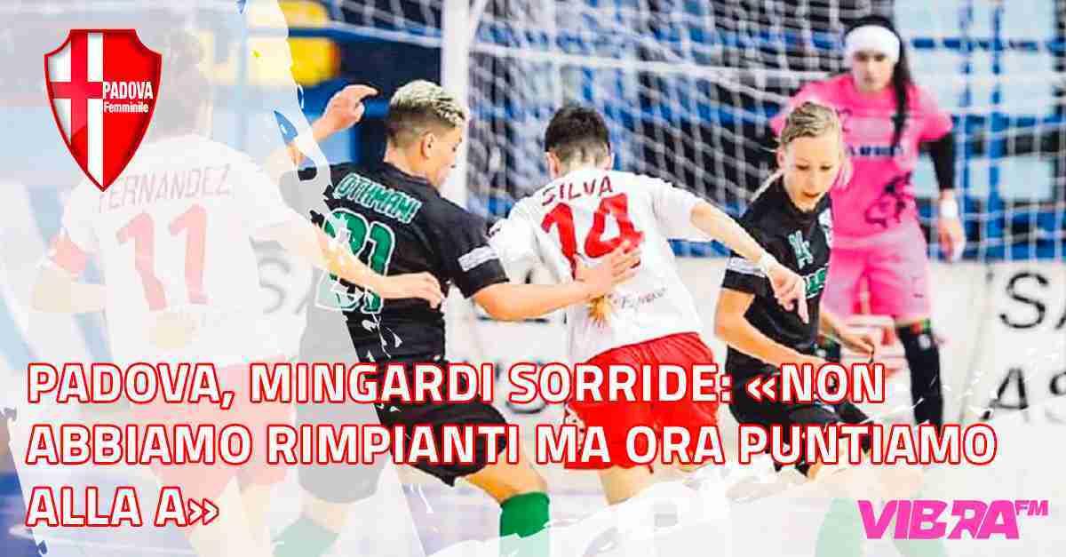 Padova, Mingardi sorride «Non abbiamo rimpianti ma ora puntiamo alla A»
