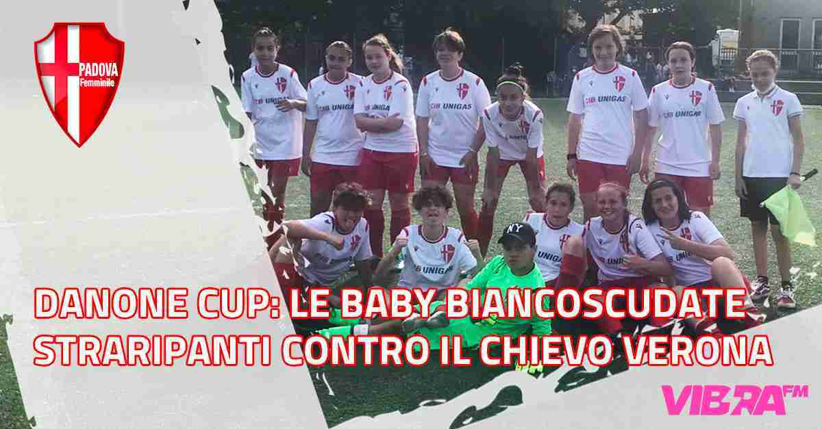 Danone Cup: Le baby biancoscudate straripanti contro il Chievo Verona