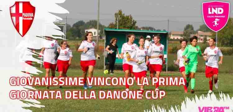 Giovanissime vincono la prima giornata della Danone Cup
