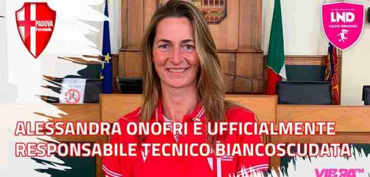 Alessandra Onofri è ufficialmente Responsabile Tecnico del Calcio Padova Femminile