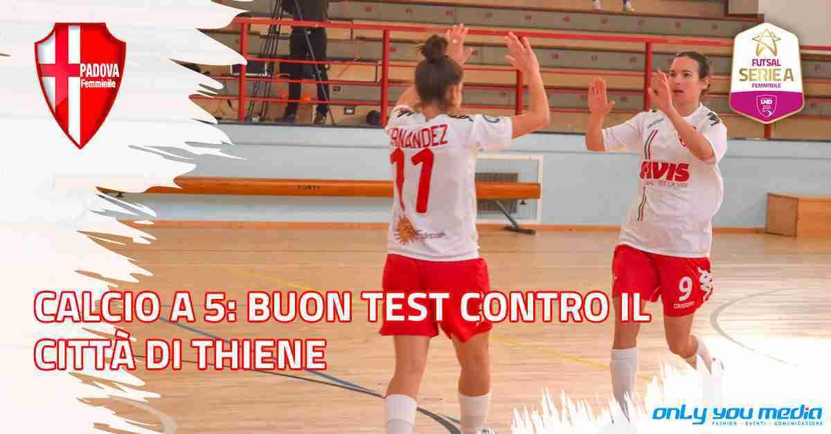 Calcio a 5: Buon test ieri contro il Città di Thiene